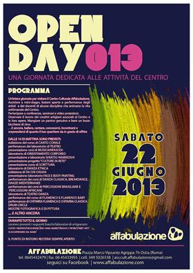 La Caracca all'Open Day 2013 del centro socio culturale Affabulazione
