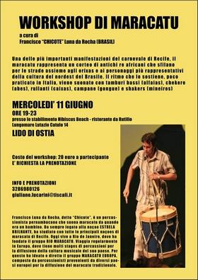 workshop di maracatu con Chicote 2014