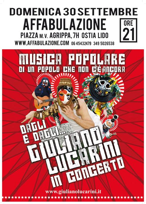 La locandina del concerto di Giuliano Lucarini
