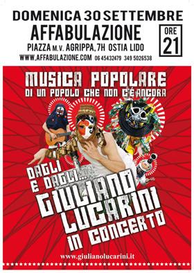 Locandina concerto di Giuliano Lucarini