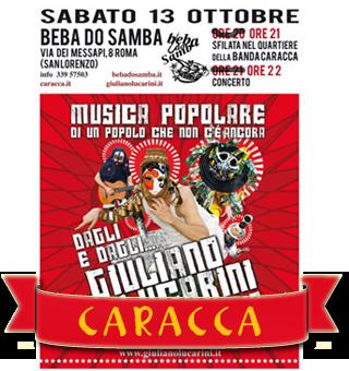 La Caracca al Beba do Samba per Giuliano Lucarini