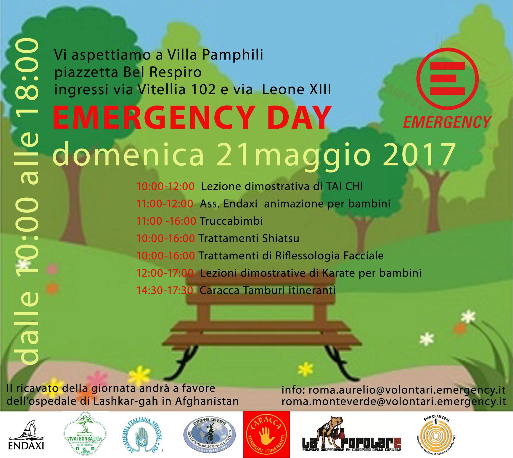 Emergency Day - Domenica 21 Maggio 2107 - Villa Pamphili